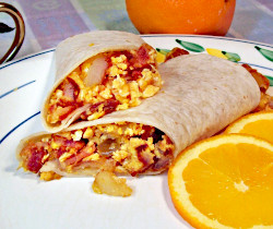 Bacon and Egg Wraps