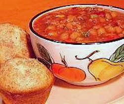 Bean Soup with Banana Nut Muffins