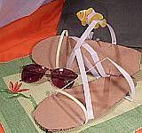 Wear these cardboard sandals when you wear your cardboard helmet