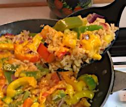 Cheddar Rice Skillet