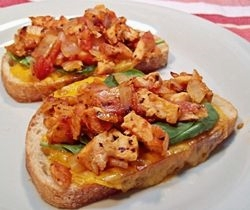 Chicken and Tomato Open-Faced Sandwiches