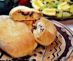Creamy Chicken Mushroom Biscuits Rolls