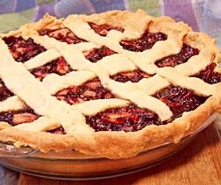 Apple and Cranberry Sauce Pie