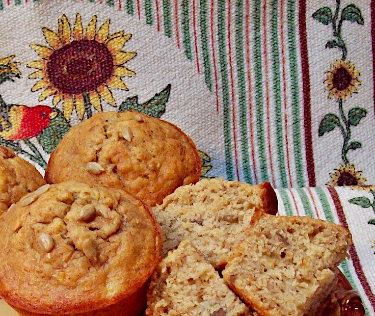 Image of Banana Muffins with Sunflower Seeds