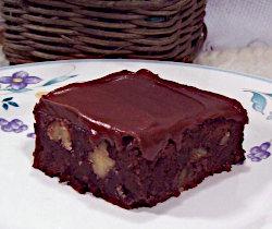 Black Bean Walnut Brownies