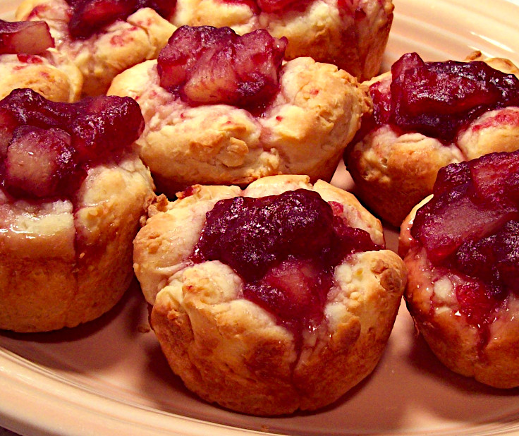 Cranberry Pineapple Yeast Tarts