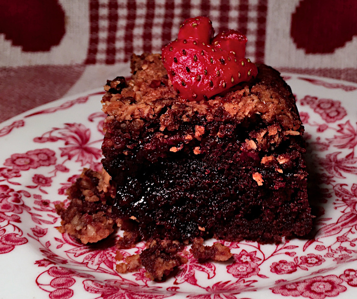Strawberry Granola Upside-down Brownies