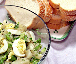 Deviled Egg Salad and Minced Turkey Sandwiches