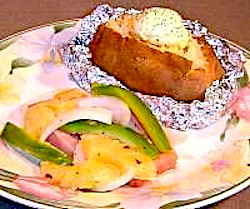 Foil Roasted Ham and Pineapple with Potatoes