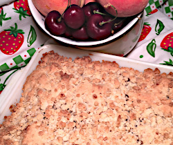 Fresh Cherry and Peach Cobbler