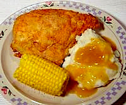 Fried Chicken, Mashed Potatoes and Gravy