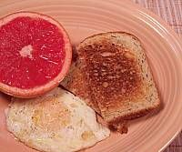 Grapefruit Egg and Toast