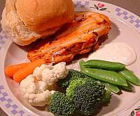 Grilled Chicken and Dipping Veggies