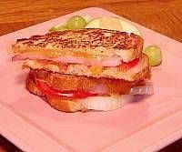 Image of Grilled Ham and Cheese Sandwich