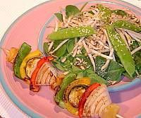 Grilled Vegetables with Oriental Tossed Salad