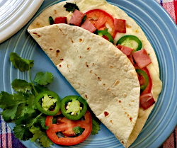 Ham and Tomato Quesadillas