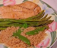 Marinated Fish Fillet and Ginger Rice