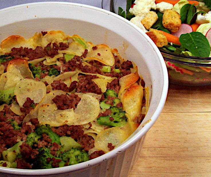 AuGratin Potato and Ground Beef Casserole