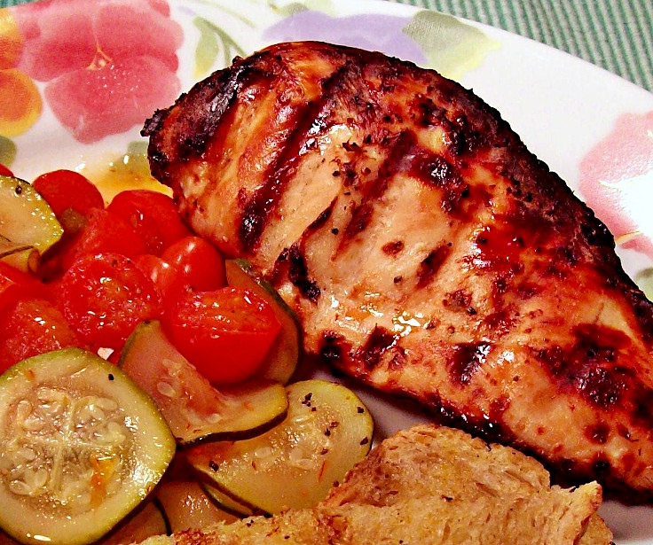 BBQ Chicken with Zucchini and Tomatoes