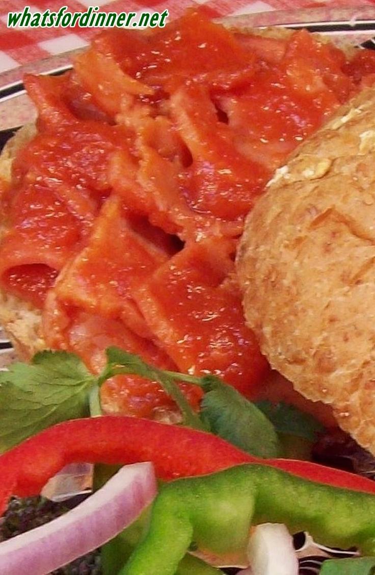 BBQ Flavored Ham Sandwiches