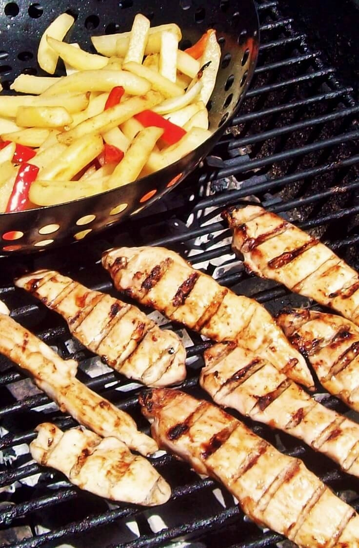BBQ French Fries and Chicken Strips