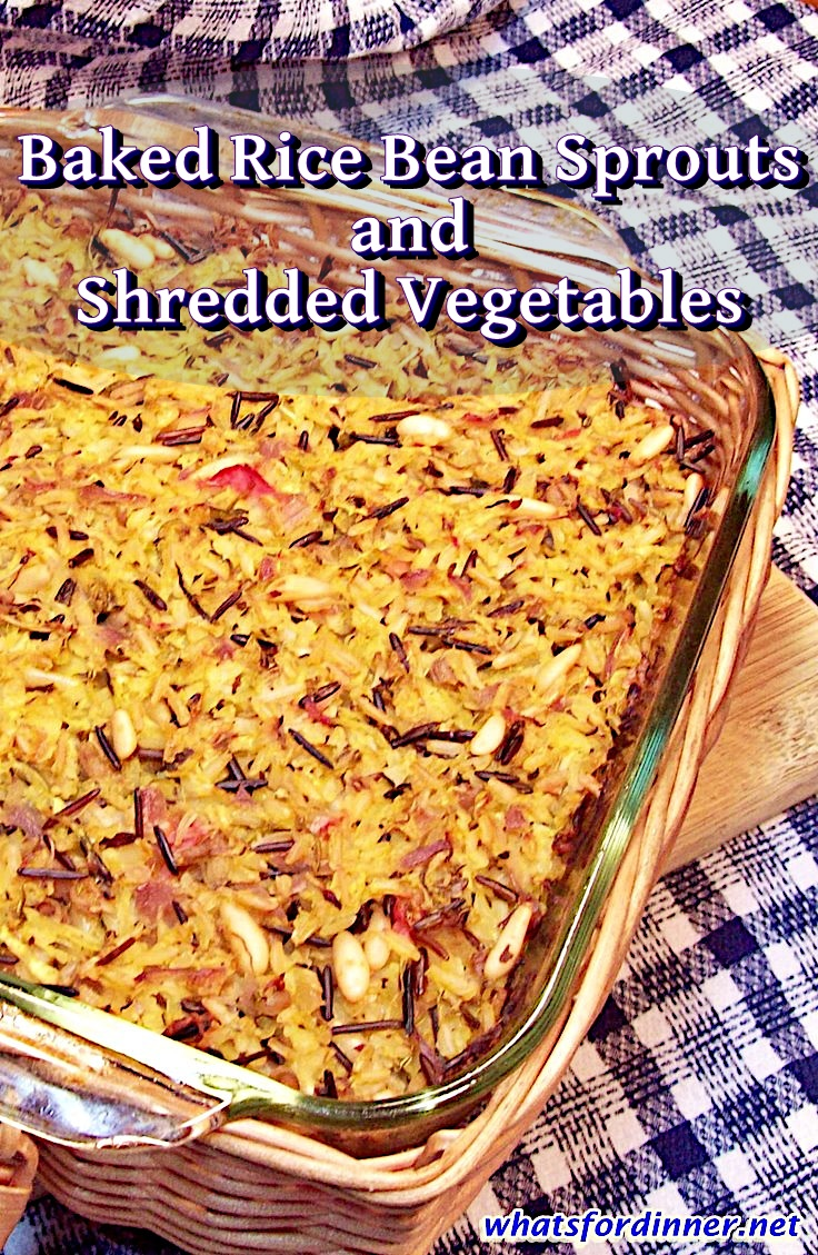 Baked Rice Bean Sprouts and Shredded Vegetables