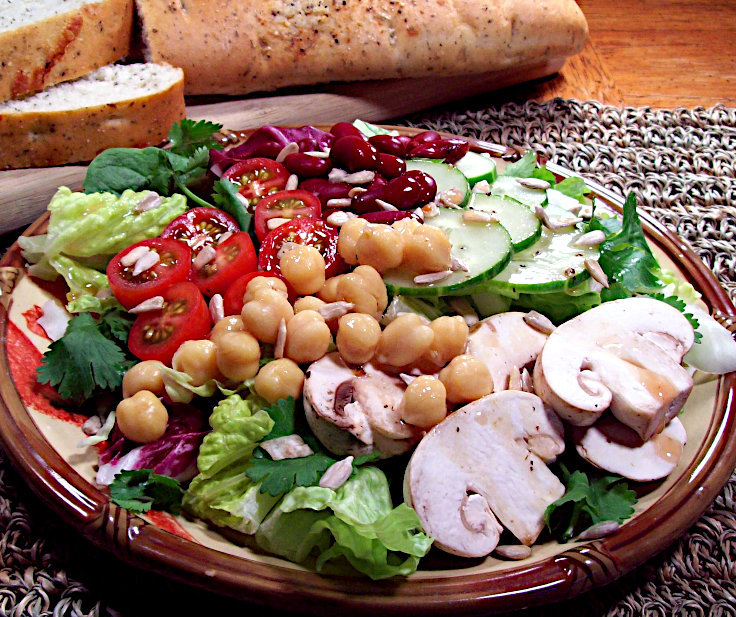 Beans and Greens Salad with Ginger-Lime Dressin