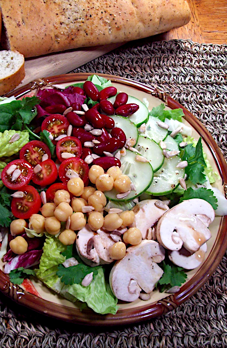 Beans and Greens Salad with Ginger-Lime Dressing