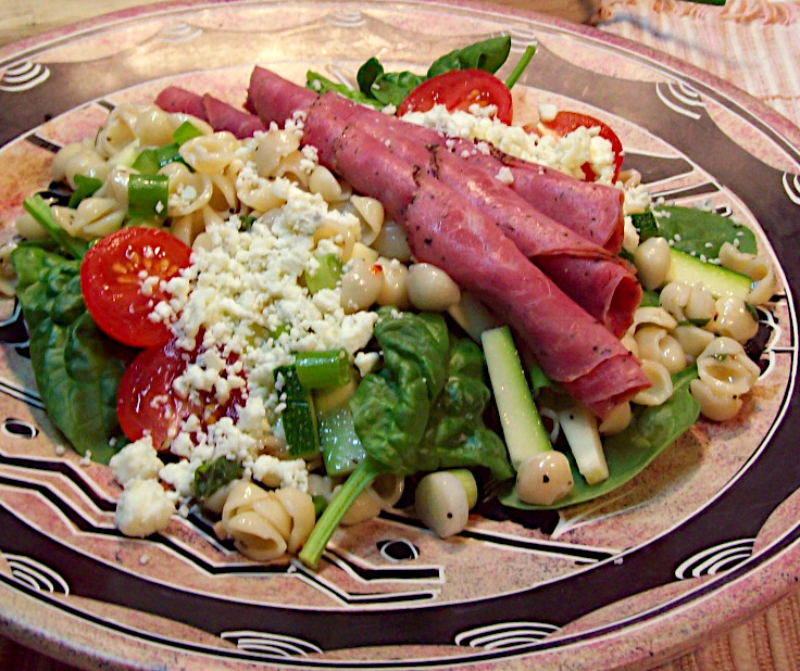 Image of Beef and Pasta Spinach Salad
