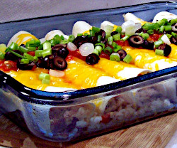 Black Bean and Rice Burrito