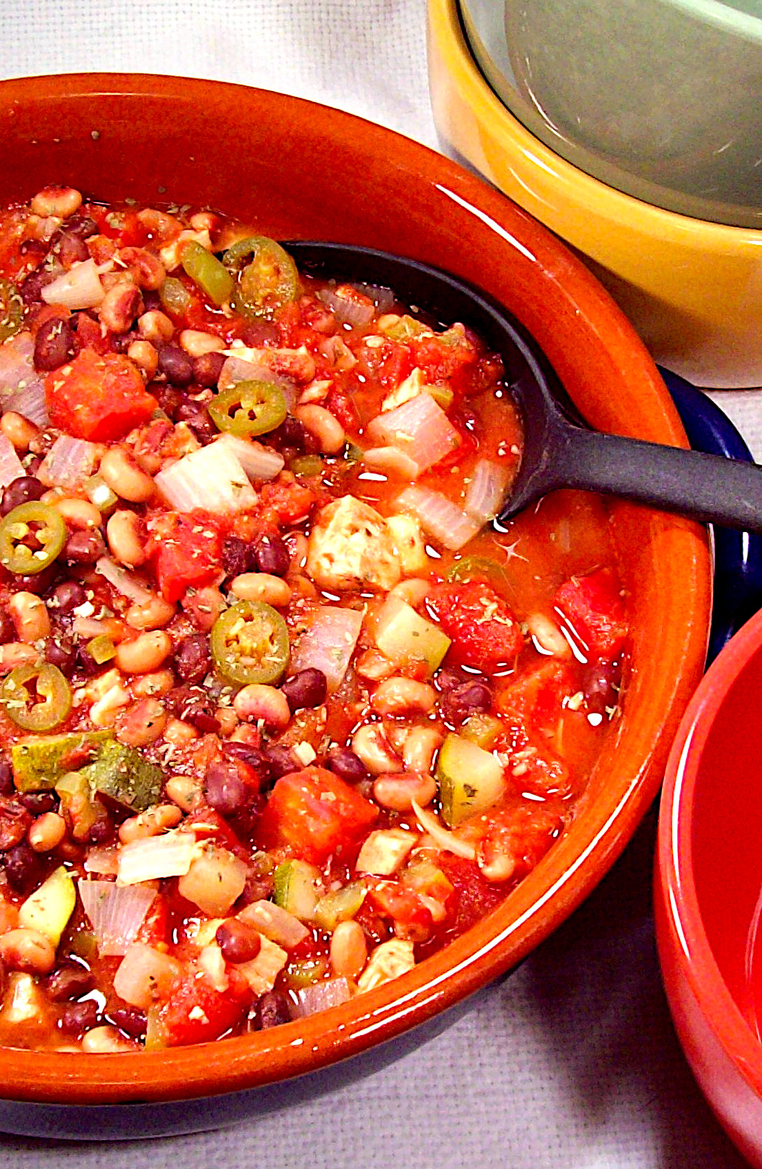 Black-Eyed Peas Black Beans and Chicken Stew
