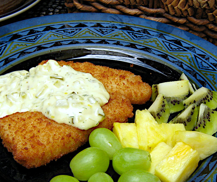 Image of Breaded Fish Fillets with Tartar Sauce