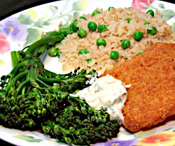 Breaded Fish Patties with Broccolette