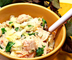 Cabbage, Chicken and Cauliflower with Rice