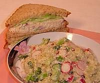 Image of Chicken Salad Sandwiches with Garden Potato Salad