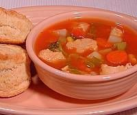 Image of Chicken Soup with Biscuits