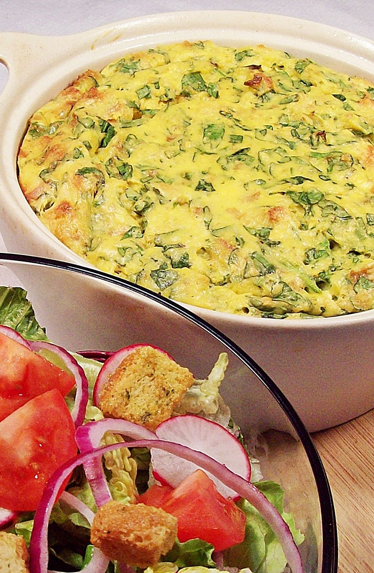 Fluffy Spinach and Cheese Bake