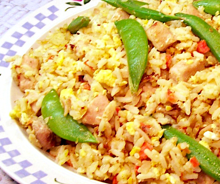 Fried Rice with Pea Pods