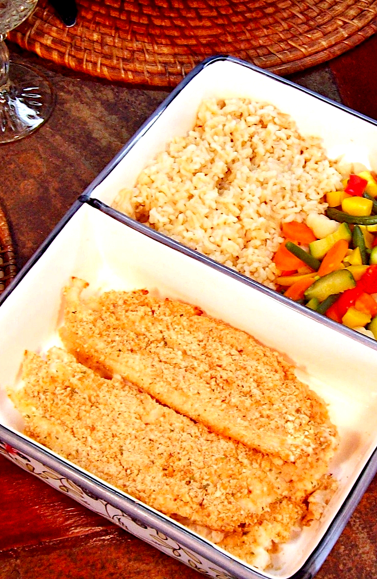 Garlicky Cheese-Crusted Fish