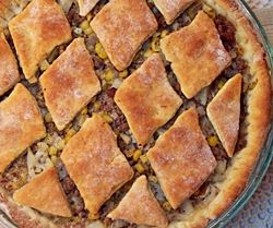 Ground Beef Biscuit Pie