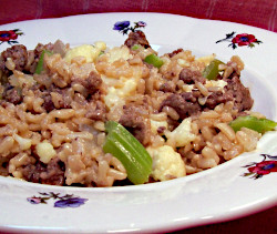 Ground Beef Stir Fry with Rice