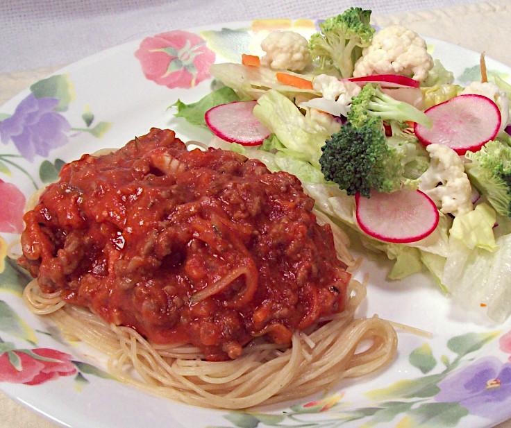 Hidden Veggie Meat Sauce and Pasta