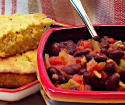 Kidney Bean Chili and Vegan Pineapple Corn Bread