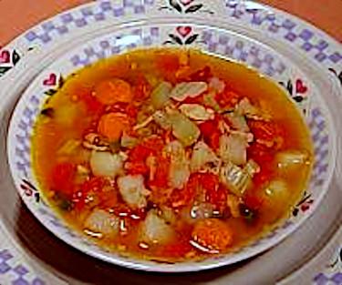 Recipe for Manhattan Clam Chowder