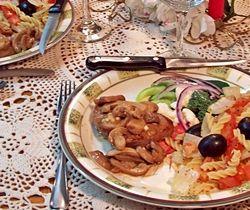 Marinated Steak and Mushrooms with Fusilli