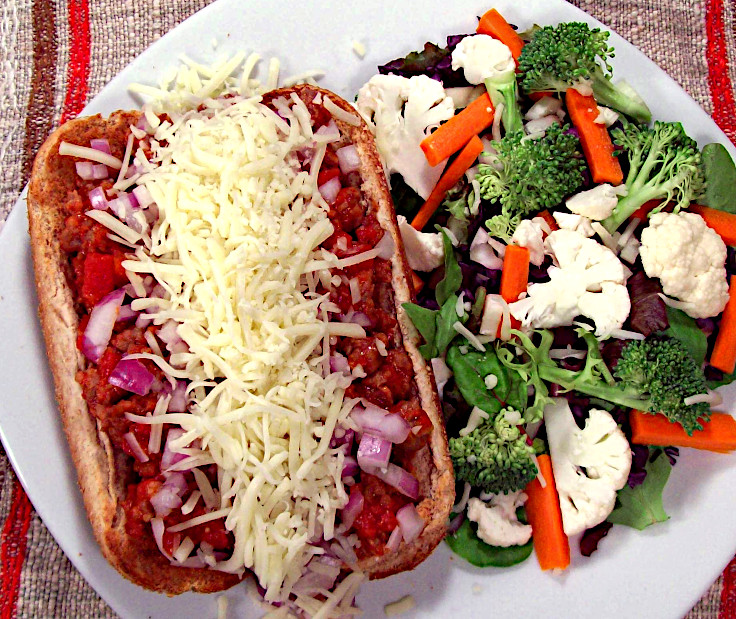 Image of Open-Faced Italian Sandwich