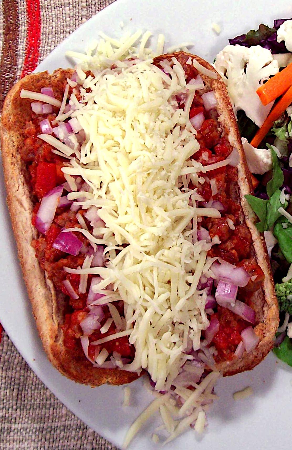 Open-Faced Italian Sandwich