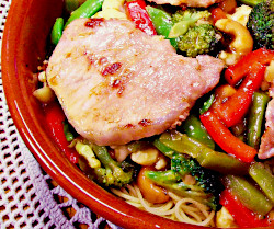 Orange Ginger Noodles with Petite Pork Loin