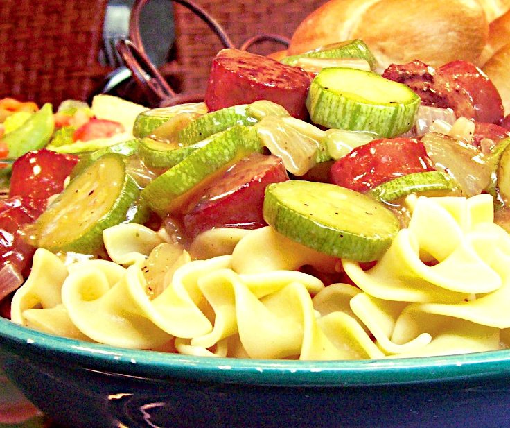 Pasta and Beef Sausage