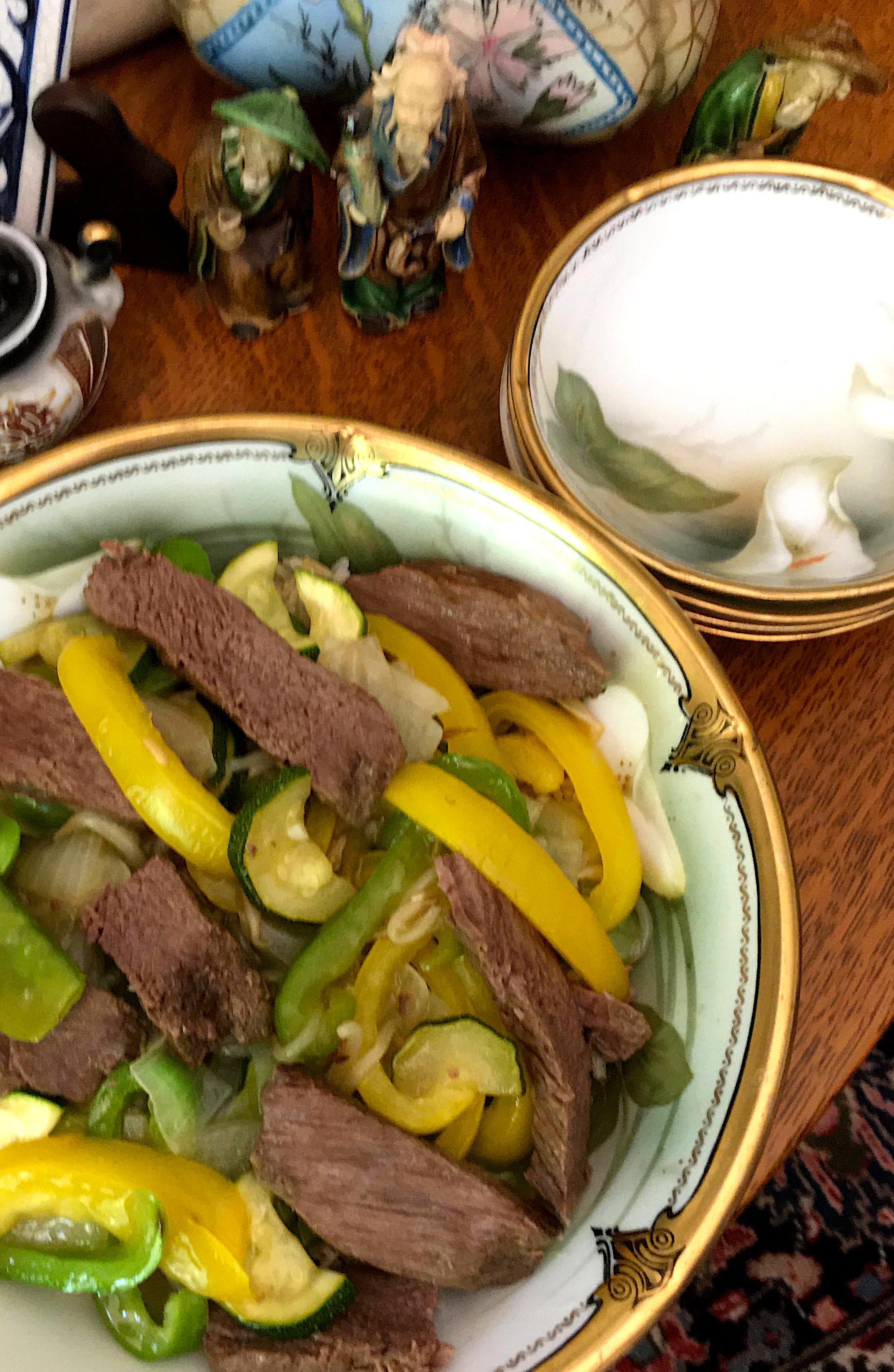 Pepper Steak and Squash